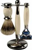 Badger Brush Fusion Razor Ivory