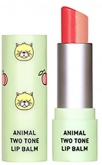 SKIN79 Animal Two-Tone Lip Balm Peach Cat Coral